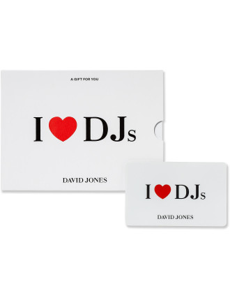 I Love DJs Gift Card