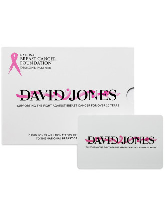 LIMITED EDITION David Jones Pink Ribbon Gift Card