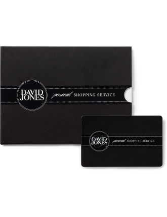 David Jones Personal Shopping Service Gift Card