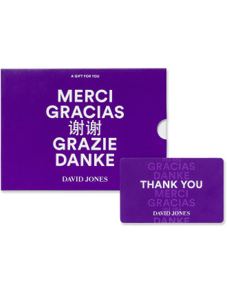 David Jones Thank You Gift Card