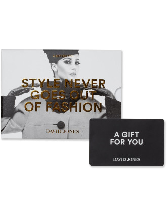 David Jones Vintage Fashion Gift Card