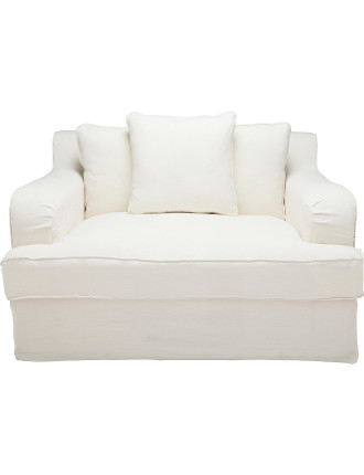 Deauville Lover Oversized Chair with White Slip Cover