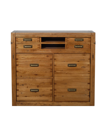 'Montana' Office Chest - Nibbled Oak