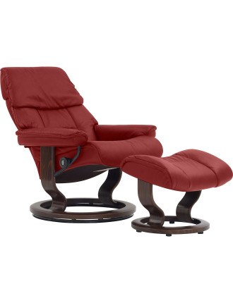 Large Ruby Chair with Foot Stool - Paloma Cherry