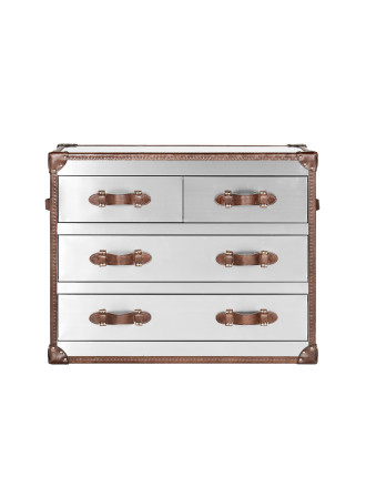 'New Stonyhurst' Brushed Steel Medium Chest