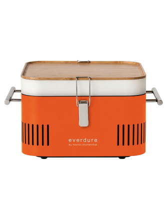 Cube Portable Charcoal BBQ Orange