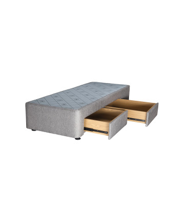 Spacesaver Stone Split Queen Base Right Drawers