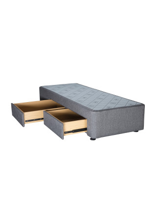 Spacesaver Charcoal King Single Base Left Drawers