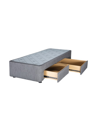Spacesaver Charcoal Split Queen Base Right Drawers