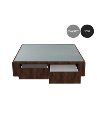 LEATHER 2 DRAWER BASE (END)