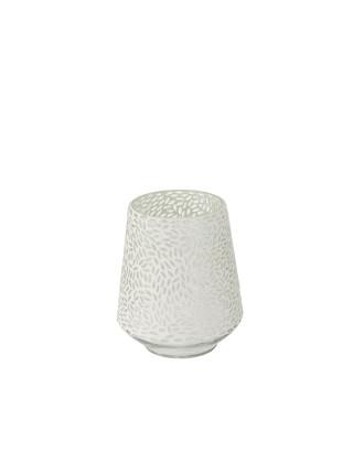 Small Mosaic Leaf Silver Vase
