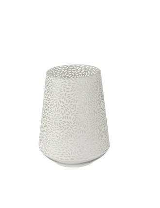 Large Mosaic Leaf Silver Vase
