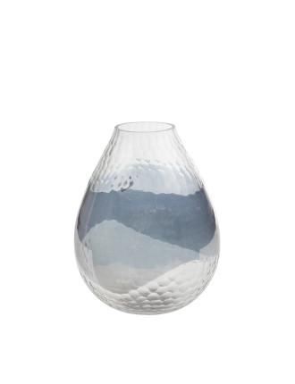 Etched Brown Luster Vase