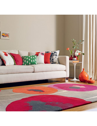 Sanderson Poppies Red Orange Rug 280x200cm