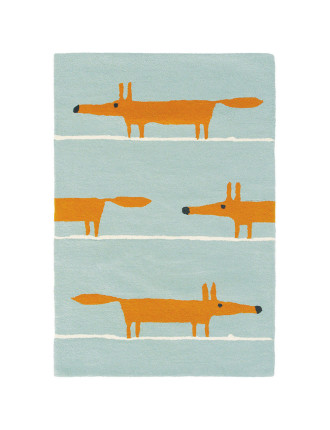 Scion Mr Fox Aqua Rug 180x120cm