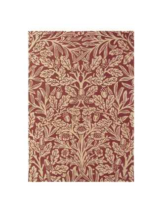 Morris & Co Oak Crimson Rug 240x170cm