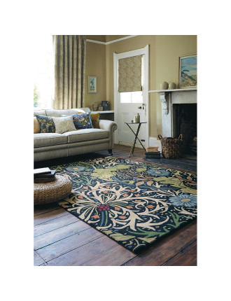 Morris & Co Seaweed Ink Rug 240x170cm