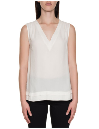 Textured V-Neck Shell Top