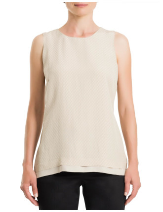 Textured Double Layer Top