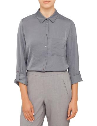 Hammered Satin Shirt