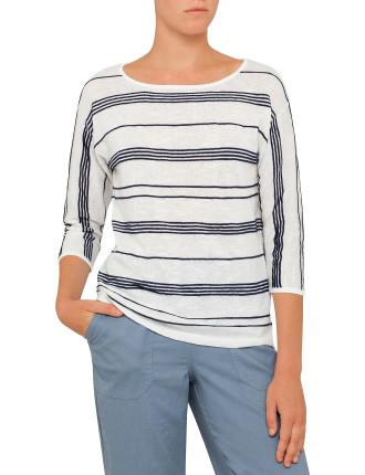 Striped Textured Jumper