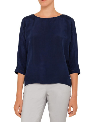 Ladder Lace Ovoid Cupro Top