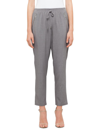 Soft Zip Detail Pants