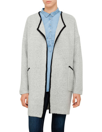 Tipped Textured Cardigan