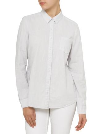Linen Look Utility Shirt