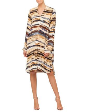 Print V-Neck Tunic Dress