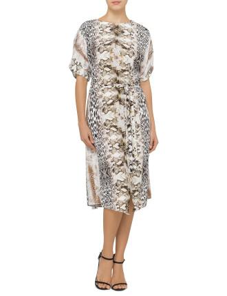Animal Print Slip Dress