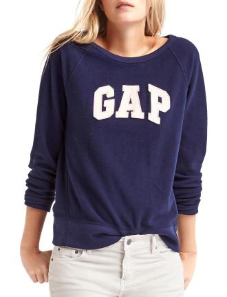 Relaxed felt logo pullover sweatshirt