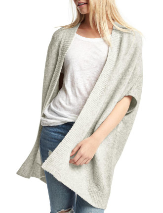 Open-front batwing cardigan
