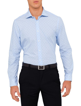 Cotton Slim Dobby Stripe Shirt