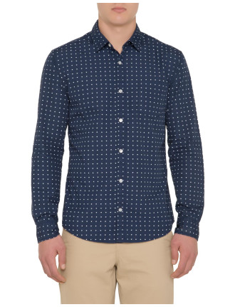 Long Sleeve Dot Print Shirt