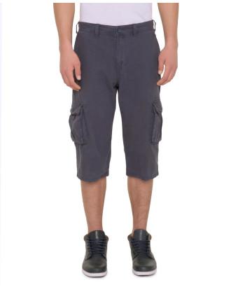 Textured Stripe Cotton Shorts
