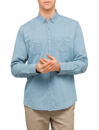 Long Sleeve Denim Base Shirt