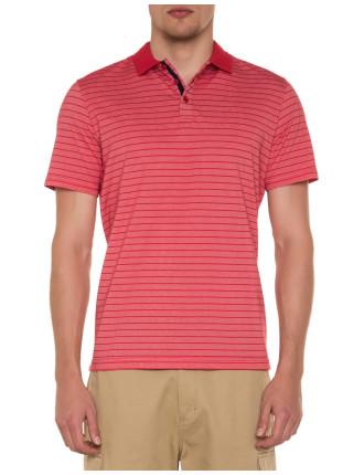 Striped Cotton Golf Shirt