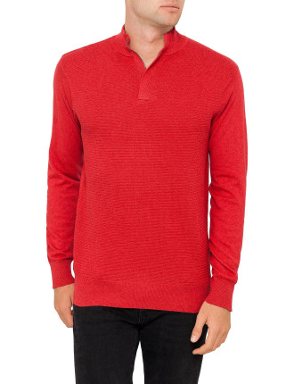Zipped Knit Jumper