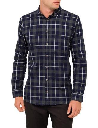 Ls Johnny Lrg Check Shirt