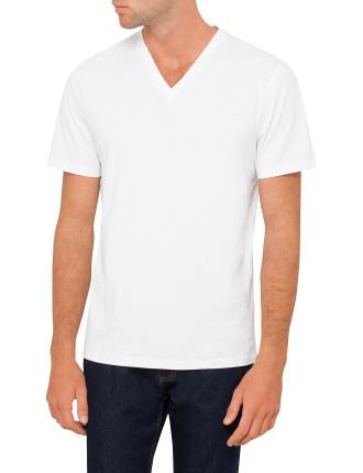 Basic Short Sleeve V Neck Top