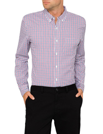 Casual Grid Check Shirt