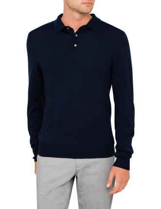 Merino Polo Pullover