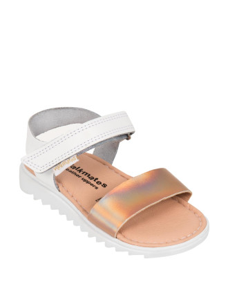 Metallic Leather Band Sandals (Size 4 - 13)