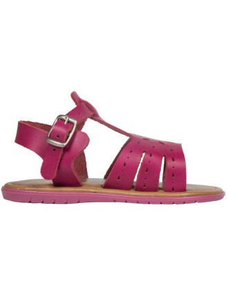 Leather Cut Out T-Bar Sandals