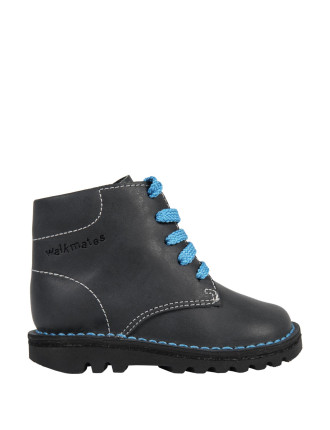 Padded Collar Leather Boots