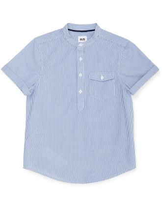 Mandarin Stripe Shirt
