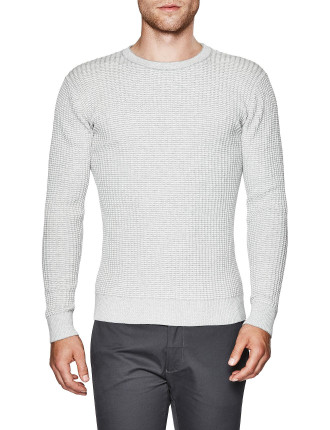 Spence Cotton Blend Crew Knit