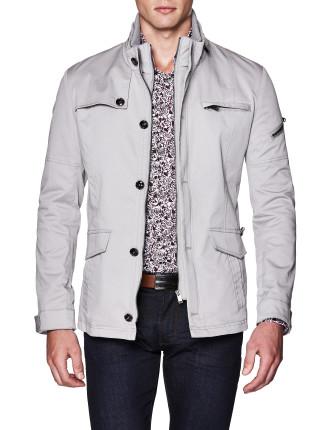 Corbett Cotton Blend Military Jacket