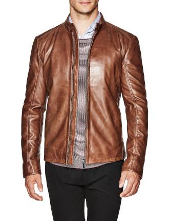 Sax Luxe Biker Leather Jacket
